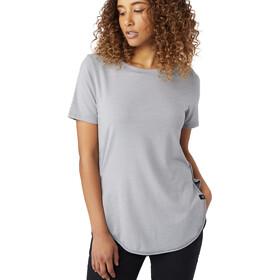 tentree Cascade Camiseta Mujer, gargoyle grey micro stripe